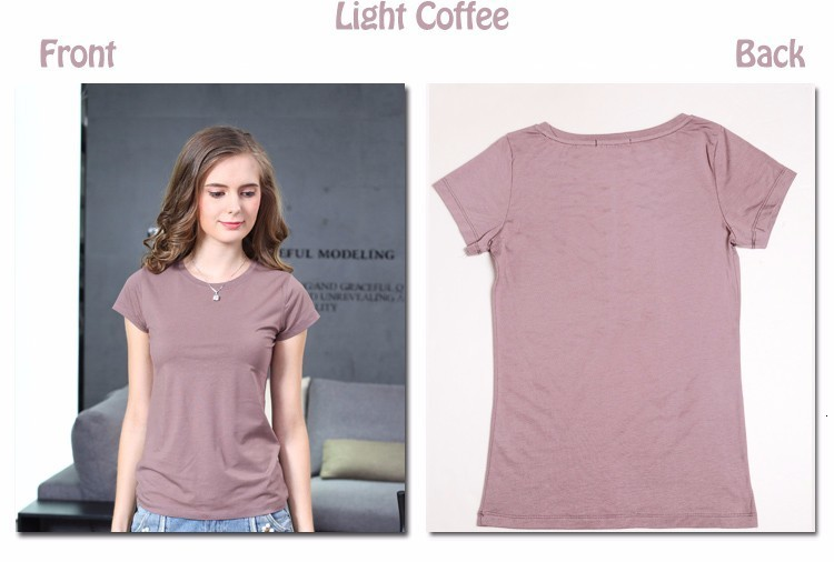 High Quality Plain T Shirt Women Cotton Elastic Basic T-shirts 25