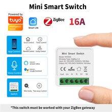 SIXWGH Zigbee Switch Mini Zigbee 3.0 Smart Switch Two Way Wireless Switch APP Remote Control Works With Tuya Zigbee Gateway