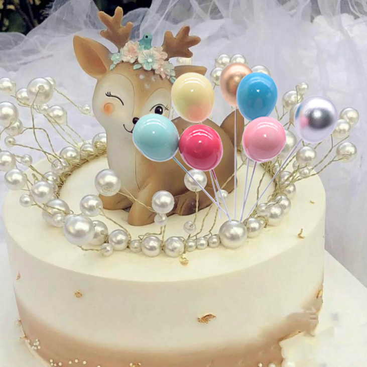 Brilliant 1 6Pcs Creative Birthday Cake Toppers Cute Unicorn Cloud Hairball Personalised Birthday Cards Bromeletsinfo