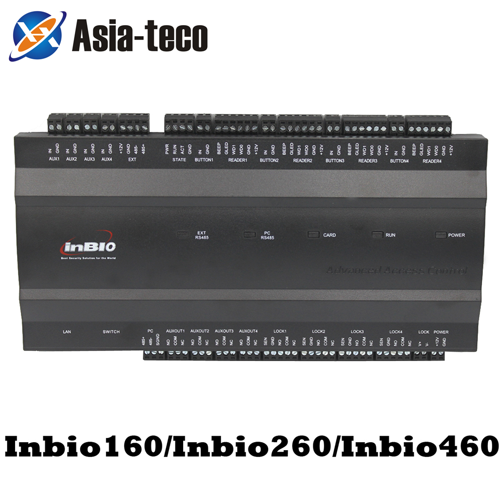 IP-based Tcp/Ip Access Control Panel Board Security Access Controller TCP/IP And RS485 Communication ZK Inbio 260 Inbio 460