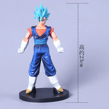 2019 dragon ball z azul escuro gogeta goku vegeta final soldado filme ver. Figura de ação do pvc da batalha super broly vs dbz 23cm(China)