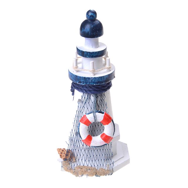 1 Piece Wrought Iron Nautical Lighthouse Lantern Candle Holders Sea Theme Home Cafe Tabletop Centerpieces 2