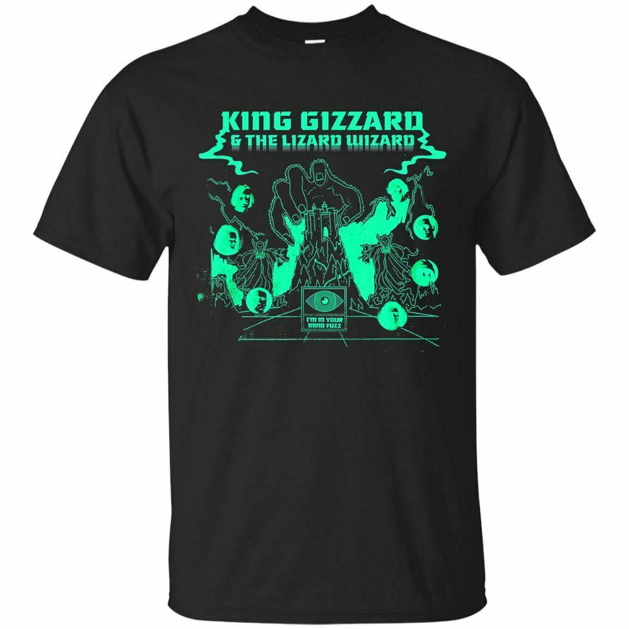 King Gizzard And The Lizard Wizard Short Sleeve Black T-Shirt S-5Xl Funny Design Tee Shirt