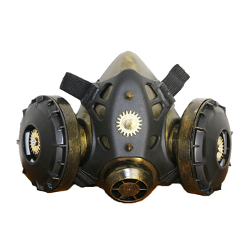 Motorcycle Full Face Skull Mask Face Mask Men Women Gothic Vintage Goggles Anti-fog Haze Gas Masks Steampunk Halloween Party