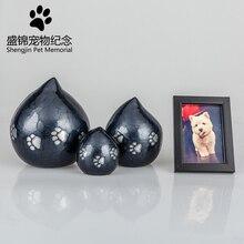 Лапа из алюминиевого сплава сердечко кремация урна собака питомца Cinerary погребальная шкатулка памятные принадлежности для домашних животных