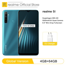 Global Version realme 5i 4GB RAM 64GB ROM Mobile Phone Snapdragon 665 AIE 12MP Quad Camera 6 5 #8221 Cellphone 5000mAh Smartphone cheap Not Detachable Android Fingerprint Recognition other Nonsupport Smart Phones Gorilla Glass Bluetooth 5 0 Capacitive Screen