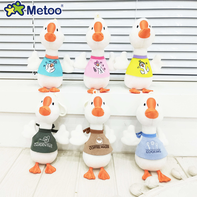 16CM Metoo Lucky Goose Dolls Stuffed Toys Kids Small Pendant Plush Toy Children Birthday Gift Toys For Girls