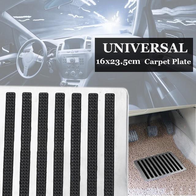 23,5X16 см универсальные напольные коврики из нержавеющей стали для автомобиля, накладные пяточный башмак, накладки для педалей, автомобильны...