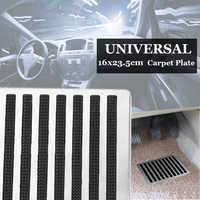 23.5X16cm universel en acier inoxydable tapis de sol de voiture tapis Patch pied talon plaque pédales tampons voiture intérieur tapis tapis Patch pédale