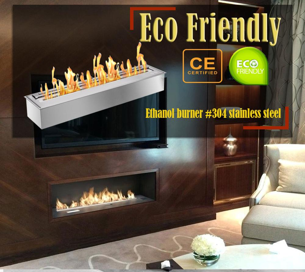 Inno Living Fire  48 Inch Fire Bioethanol Stainless Steel Indoor Fireplace