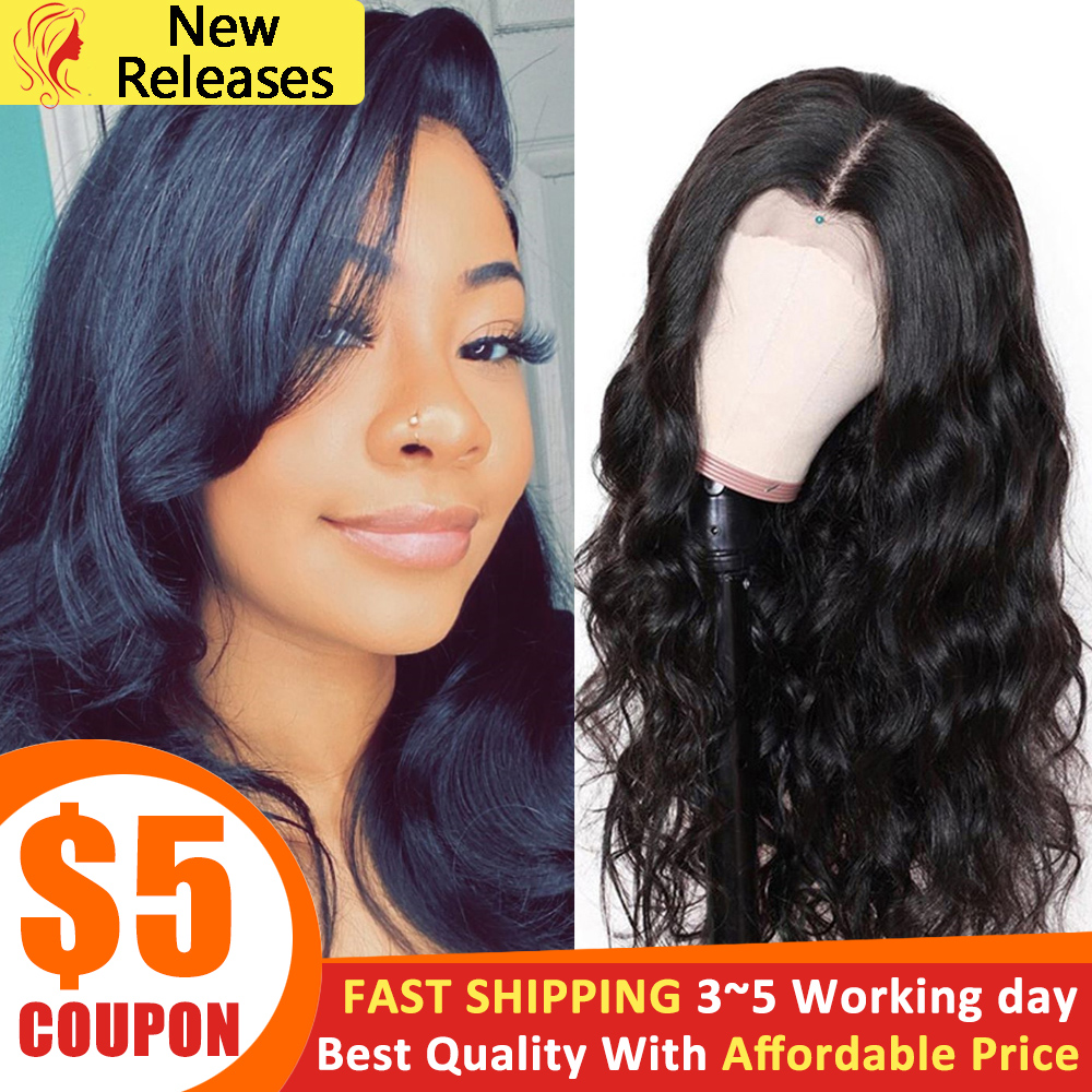 Body Wave Human Hair Wigs 4x4 Lace Closure Wigs 180% Density Natural Hairline With Baby Hair 30 Inch Wig Beauty Lumina Hair