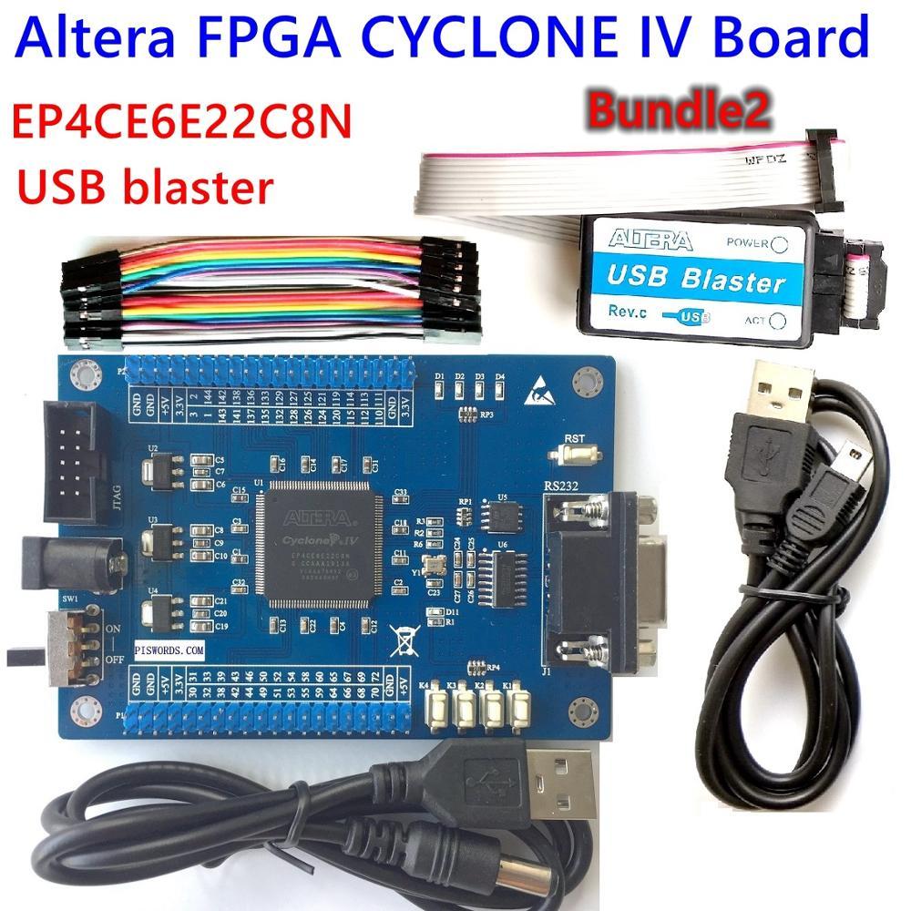 FPGA-kit de placa base de desarrollo ALTERA, CYCLONE IV EP4CE EP4CE6E22C8N, Blaster, usb, jtag, código de muestra SCH