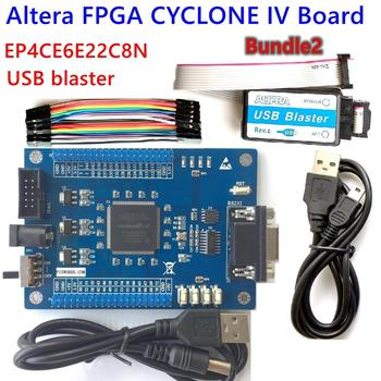 FPGA ALTERA, kit de placa de desarrollo, CYCLONE IV EP4CE EP4CE6E22C8N, Blaster, usb, jtag, código de muestra SCH