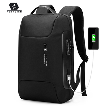 Fenruien Waterproof 15.6 Inch Men Laptop Backpack Usb Charging School Bag Anti Theft Backpack Male Travel Backpacks 2020 New fenruien brand 17 inch laptop backpack men usb charging travel backpacking school bag nylon waterproof anti theft backpacks