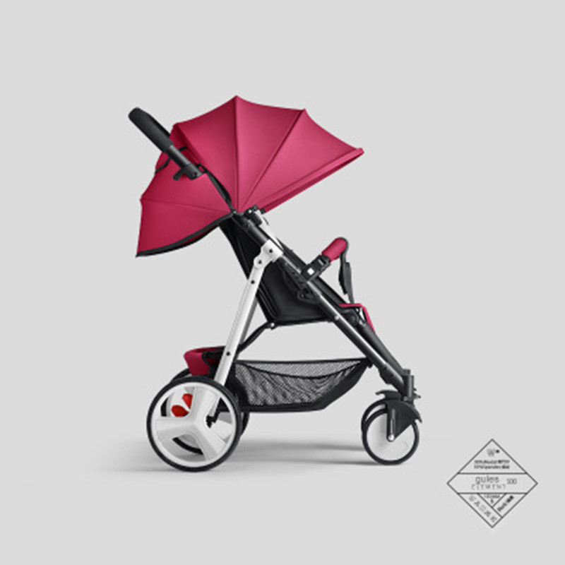 Luxury Lightweight 6Kg <font><b>Baby</b></font> Stroller Traveling <font><b>Pram</b></font> for Newborn High Landscape Four-wheel <font><b>Baby</b></font> Stroller <font><b>3</b></font> <font><b>in</b></font> <font><b>1</b></font> Colorful Stroller image