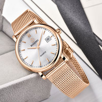 36mm Women Watch Gold Swiss Quartz Movement Watches Luxury Brand Ladies Stainless Steel Watch Female Clocks Relogio Feminino