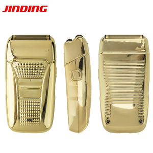 electric shaver for men Razor hair removal beard trimmer Usb cable Retro Reciprocating double cutter head Electroplating body 67
