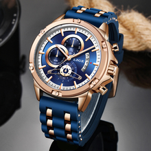 LIGE 2020 Mens Watches Top Brand Luxury Men Military Sport Wristwatch Silica gel