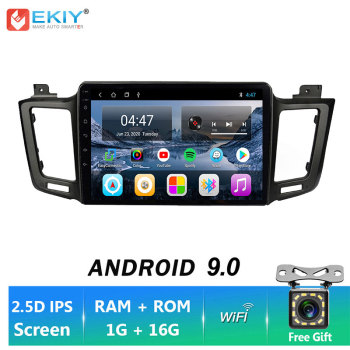 EKIY 2DIN Android 9.0 4G WIF Car radio For Toyota RAV4 2012-2017 Stereo Multimedia Video GPS Navigation LET 360 Camera Head Unit image