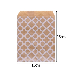 Image 4 - 25PCS 18x13 ซม.กระดาษคราฟท์Biscuit Candyของขวัญกระเป๋าบรรจุวันเกิดตกแต่งขนมCandy BARถุงขนมขบเคี้ยวคุกกี้กระเป๋า
