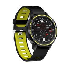 Microwear L8 Full Touch Screen ECG+PPG O2 Monitor IP68 Sports Mode bluetooth Music Control Weather