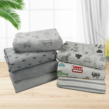 Grey Series Baby Cotton Fabric Printed Cotton  knitted Jersey fabric by  meter  for baby clothing making