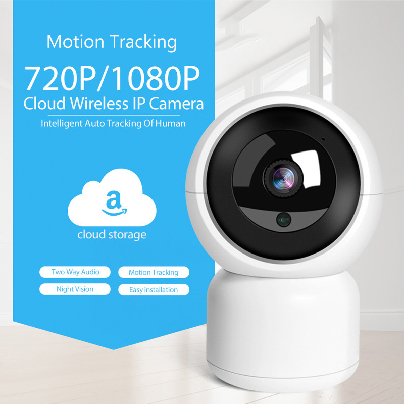 1080P HD WiFi IP Camera With Pan-Tilt Zoom Two Way Audio Baby Care Amazon Alexa Google Home Voice Video Control