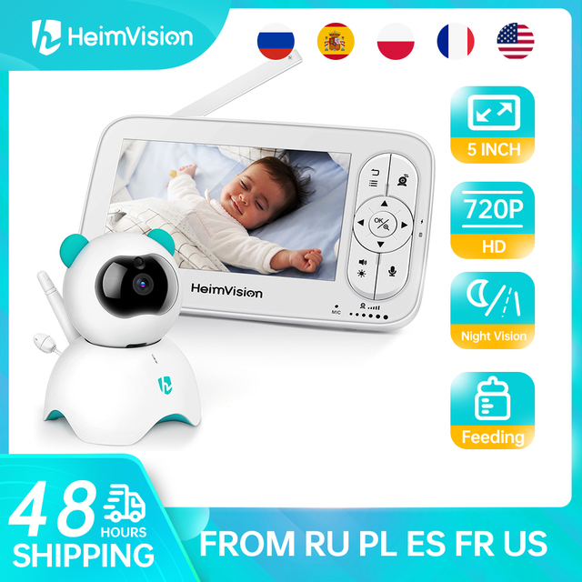 HeimVision HMA36MQ 5.0 Inch Baby Monitor with Camera Wireless Video Nanny 720P HD Security Night Vision Temperature Sleep Camera 1