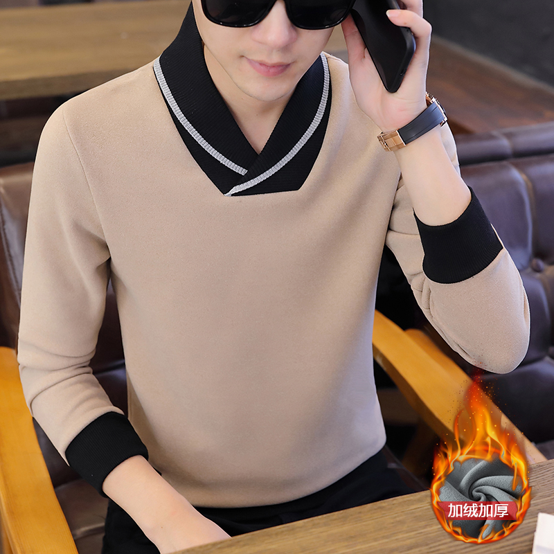 Cheap Wholesale 2019 New Fall And Winter Hot Sale Men's Fashionable Casual Warm Sweater Knit Bottoming