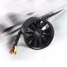 цена на FMS 50mm 12 Blades Ducted Fan EDF With 2627 KV4500 KV5400 3S 4S Brushless Motor for RC Ducted Fan