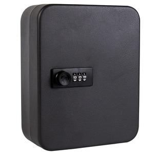Image 5 - New Multi Keys Safe Storage Box Combination/Key Lock Spare Car Keys Organizer Box For Home Office Factory Store Use