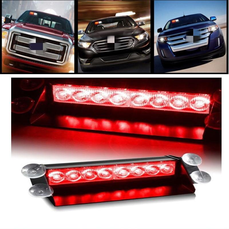 44 LED Car Truck Dash Grille Strobe Flash Light Emergency Police Warning Green