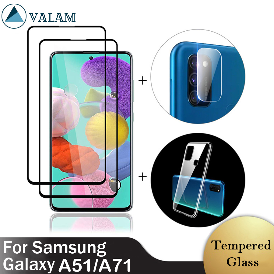 For Samsung A51 Glass For Samsung Galaxy A51 A71 Tempered Glass Screen Protector Full Cover For Samsung A51 A71 Glass