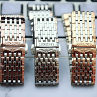 Luxury Quality Solid Stainless Steel Watchband for Longines L2 L4 PRESENCE LA GRANDE watch Strap 13mm 18mm Band Bracelet Strap