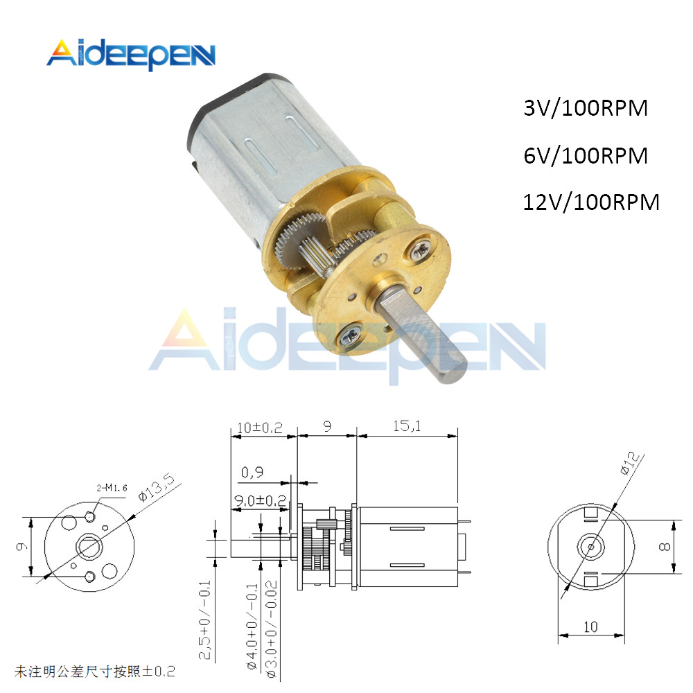 DC GA13N20 Gear Box  Motor Electric Gear Motor for Car Model//Robot//DIY