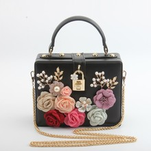 Caker Brand 2019 Women Beaded Flower Handbag Fashion High Quality Shoulder Crossbody Bags Day Clutches
