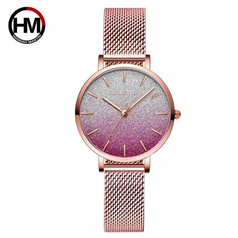Hannah Martin 2020 New Multi-color Ladies Watches Women Fashion Watch 2020 Wristwatch Women Female Watch Clock Relogio Feminino
