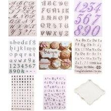 Decorating-Tools Fondant Cookie-Cutter Embosser-Stamp Alphabet Sugarcraft Silicone DIY
