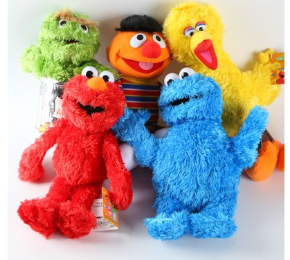 New Sesame Street   Elmo Cookie Monster Ernie Big Bird Grover Zoe  Plush Toy Dolls 26cm-36cm Children plush toy for birthday