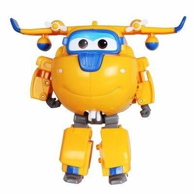 Большой! 15 см ABS Супер Крылья деформация самолет робот фигурки Супер крыло Трансформация игрушки для детей подарок Brinquedos - Цвет: No Box DONNIE