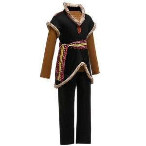 Image 2 - Disfraz de reina de la nieve Kristoff para niños, traje de tres piezas para fiesta de carnaval, ropa de fantasía para niños, conjuntos de película para niños