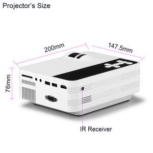Image 3 - Ub10/ub10wifi (android 6.0) 2000lumens mini led tv cinema em casa projetor multimídia lcd proyector 3d beamer suporte hd 1080 p