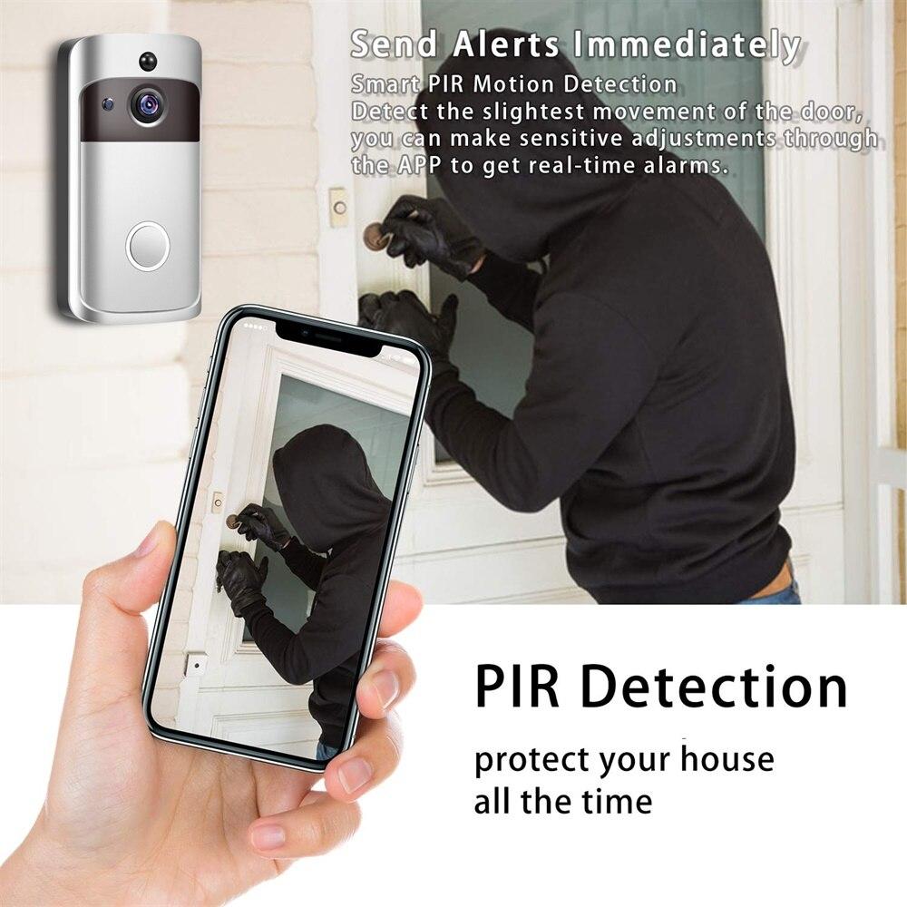 Image 5 - Smart IP Video Intercom WI FI Video Door Phone Door Bell WIFI Doorbell Camera For Apartments IR Alarm Wireless Security Camera-in Doorbell from Security & Protection