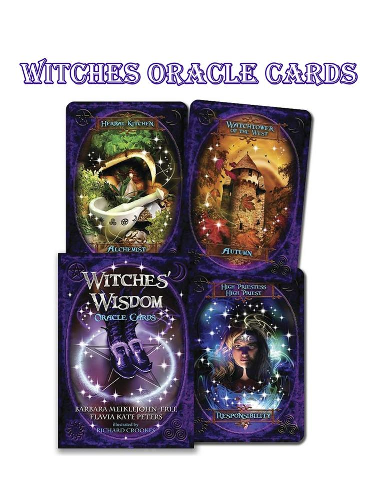 Exploding Card Games Witches Wisdom Oracle Cards Stunning Deck Of 48 Cards Juegos De Mesa