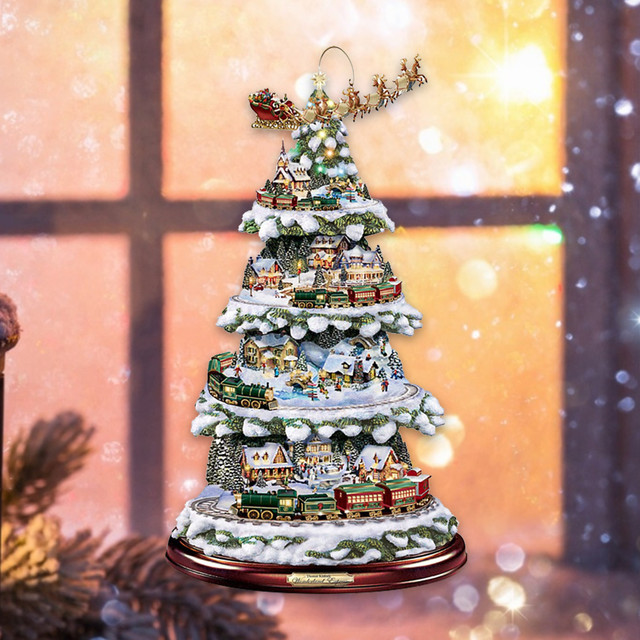Paintings Wonderland Express Christmas Tree 4