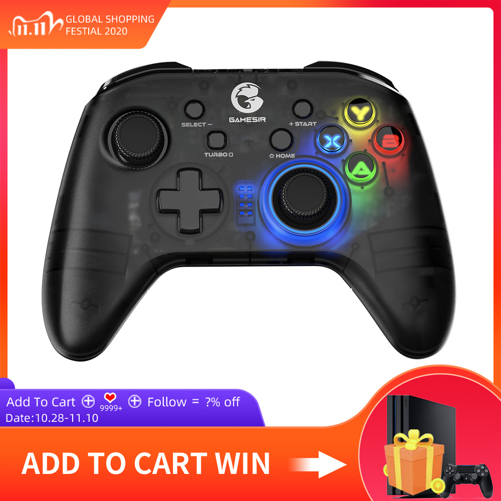 GameSir T4 Pro   T4W Gamepad Controller 2 4 GHz  Joystick for PC Game with USB Receiver Wired Gamepad for Windows  7 8 9 10  PC