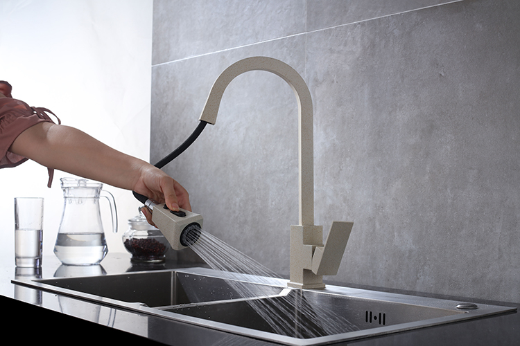 Ha71d9cd09e2146ab9eb0c512037590a3f Black Kitchen Faucet Pull Out Kitchen Tap Single Hole Handle Swivel 360 Degree Hot Cold Water Mixer Tap Kitchen Water Tap Faucet