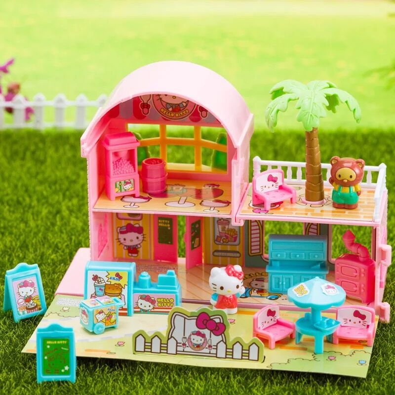 Hello Kitty Hello Kitty Toy Model House Kitchen Play House Toys Play House GIRL'S Toy