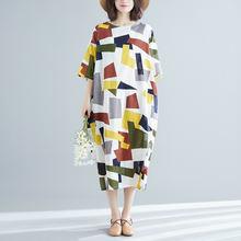 Женская одежда 2020 летнее платье из хлопка и льна Большие размеры