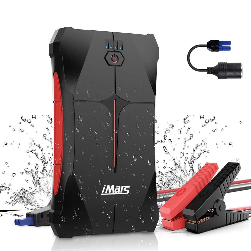IMars 1000A Portable voiture saut démarreur chargeur de secours batterie externe lampe de poche LED voiture Booster dispositif de démarrage étanche